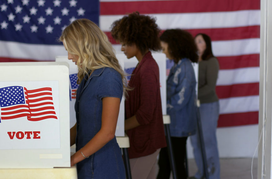 Nevada voters voting in the primary.